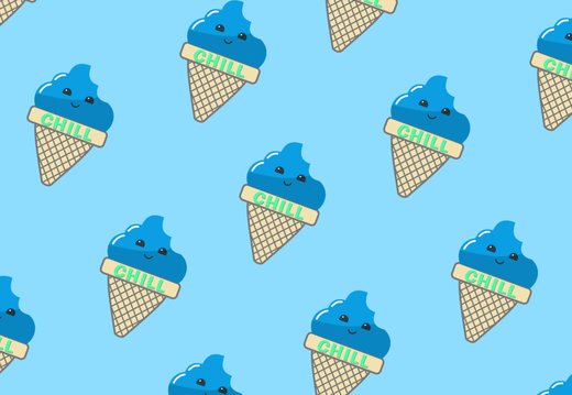"Ice Cream Pattern ""Chill"""