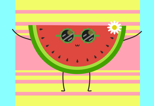 Watermelon on the beach wallpaper