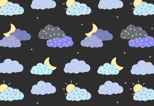 Night clouds pattern