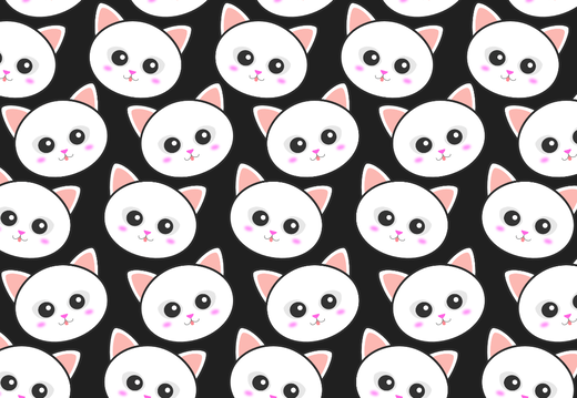 White cats pattern