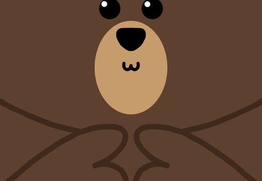 Shy bear wallpaper