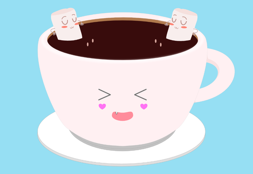 Marshmallows in the coffee cup wallpaper
