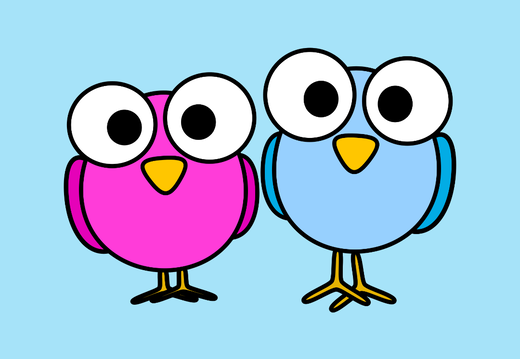 Two cute birds wallpaper