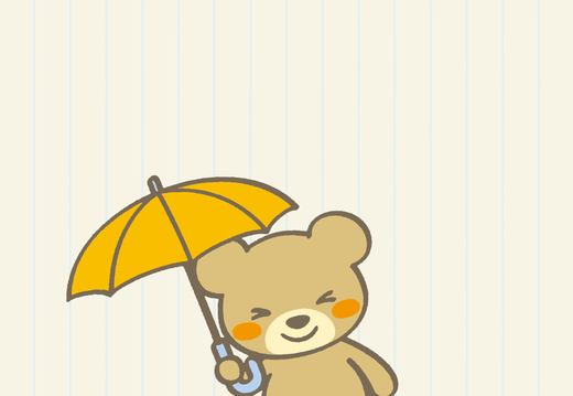Bear with umbrella wallpaper