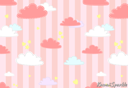 Pink clouds pattern