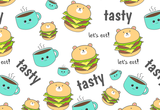 Cute hamburger pattern