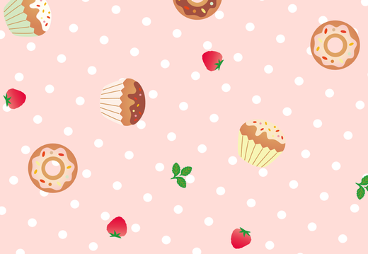 Cake and donut pattern