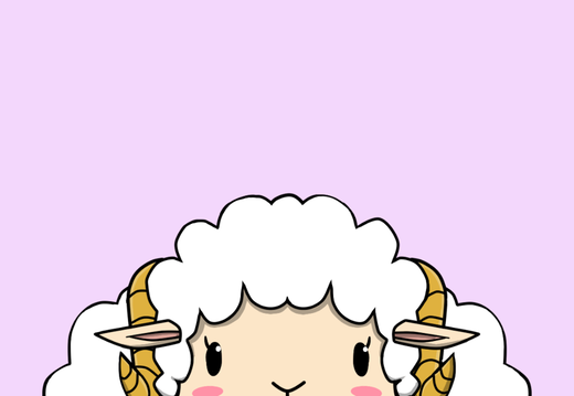 Happy sheep wallpaper