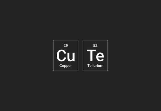 """Cute"" - copper and tellurium wallpaper"